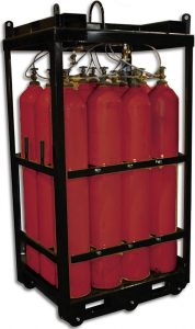 Red High Pressure Cylinders Pack