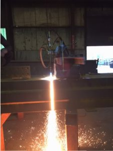 Cuts 20 inch thick steel, 29 inch long in 10 minutes