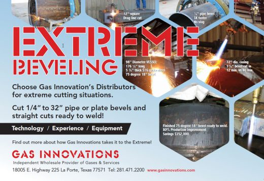 Gas Innovations Extreme Beveling